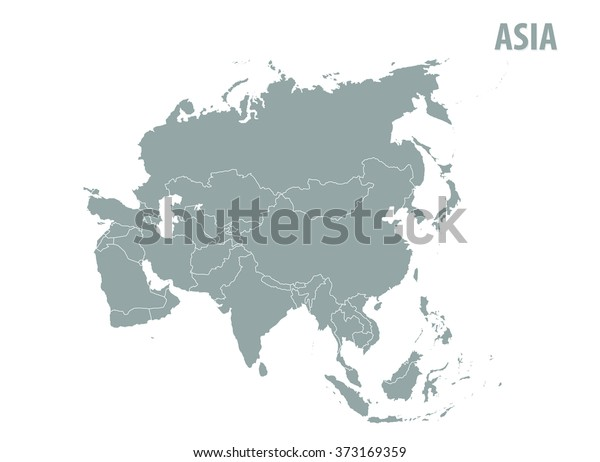 Map Of Asia Vector.Map Asia Vector Illustrationgrey Map Stock Vector Royalty Free
