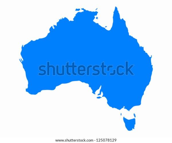 Kort Over Australien Lagervektor Royaltyfri 125078129