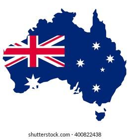 map of australia map concept vector flag