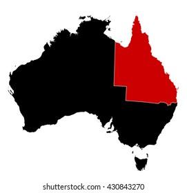 Map - Australia, Queensland