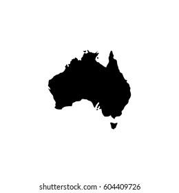 Map of Australia vector icon.