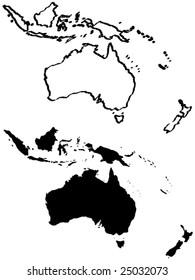 map of Australia vector illustration