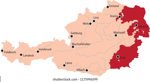 map austria wine regions