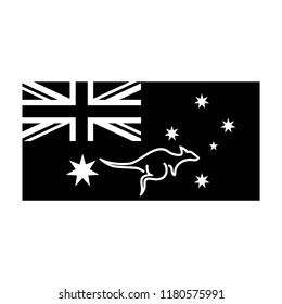 Map Autralia Australia Flag Map Australia Stock Vector Royalty Free