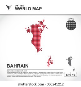 Map Of Bahrain Dotted Vector