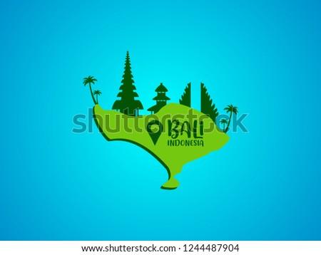 Map Bali Island Stock Vector Royalty Free 1244487904 Shutterstock