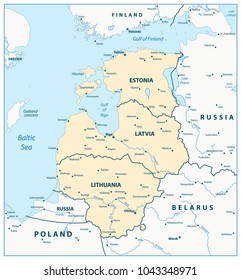 Baltic States Map Images Stock Photos Vectors Shutterstock
