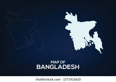 Map of Bangladesh. Abstract design, vector illustration by using adobe illustrator. Bangladesh map.