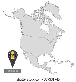 Highly Detailed North America Blind Map Stock Vector 2018
