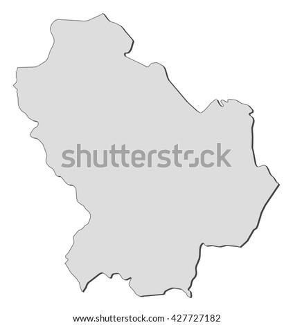 Map Basilicata Italy Stock Vector Royalty Free 427727182