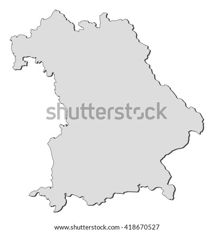 Map Bavaria Germany Stock Vector (Royalty Free) 418670527 - Shutterstock