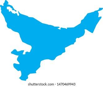 map of the Bay of Plenty region in new zealand