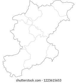 map of belluno province