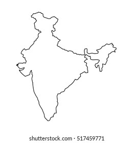Outline Of India Map Outline Map India Stock Vectors, Images & Vector Art | Shutterstock