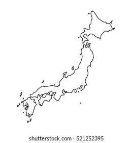map black outline Japan