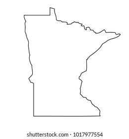 map black outline state USA - Minnesota