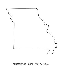 map black outline state USA - Missouri