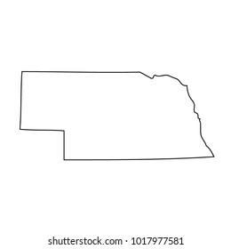 map black outline state USA - Nebraska