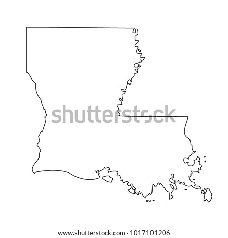 Map Black Outline State Usa Louisiana Stock Vector Royalty Free