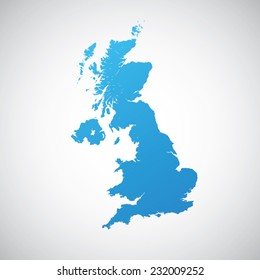 map blue of United Kingdom