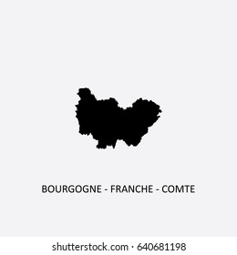 Map of Bourgogne-Franche-Comte - France Vector Illustration