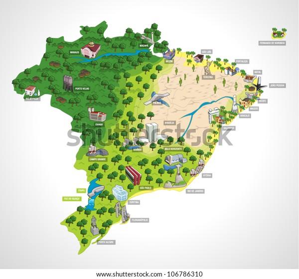 Mapa De Brasil Con Todas Las Capitales Ciudades De Brasil