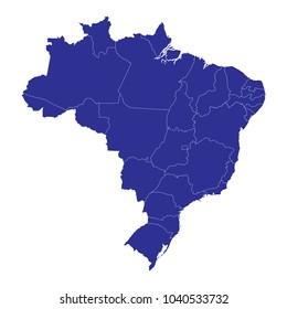 Brazil Map Images, Stock Photos & Vectors | Shutterstock