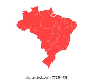 High detailed blue map brazil vector vectores en stock 533311210 map of brazil high detailed red map on white background abstract design vector illustration gumiabroncs Choice Image