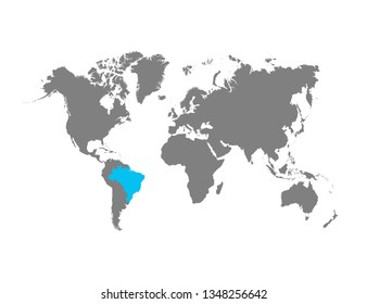 The map of Brazil is highlighted in blue on the world map