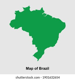 Map of Brazil isolated vector illustration