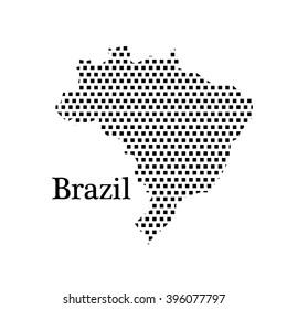map of Brazil,dot