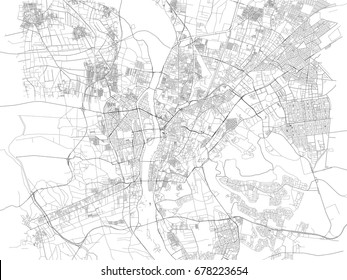 Map of Cairo, city, streets, Egypt, satellite view