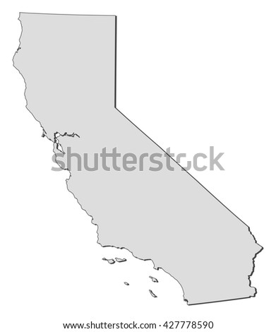 Map California United States Stock Vector (Royalty Free) 427778590 ...