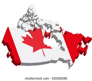 Map Of Canada Red.3 D Map Canada Stock Illustration 731803762 Shutterstock