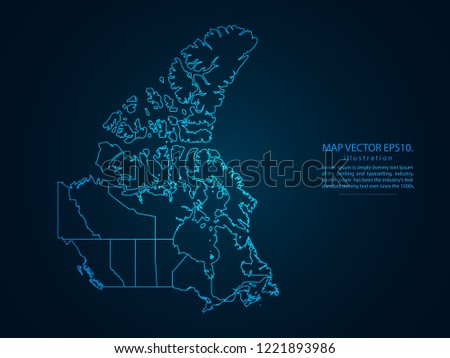 Map Of Canada Eps.Map Canada Abstract Mash Line Point Stock Vector Royalty Free