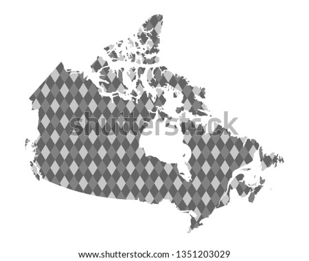 Colored Map Of Canada.Map Canada Colored Rhombs Stock Vector Royalty Free 1351203029