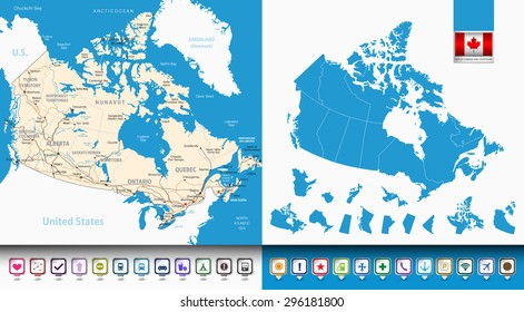 Labeled Map Of Canada.Provinces Of Canada Images Stock Photos Vectors Shutterstock