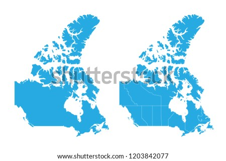 Map Of Canada Eps.Map Canada Couple Set Map Canada Vector Stock Vector Royalty Free