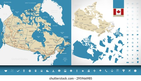 Map Of Canada Highways.Canada Map Provinces Images Stock Photos Vectors Shutterstock