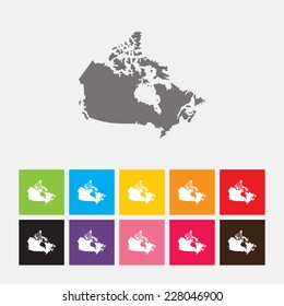 Map of Canada icon - Vector