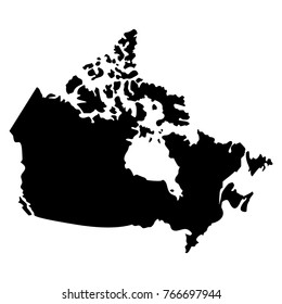 Map of Canada on a white background, Vector illustration