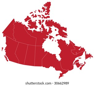 Map of CANADA with separable borders in vector art. (Sizable to any dimension) - You got ALL the provinces in one file