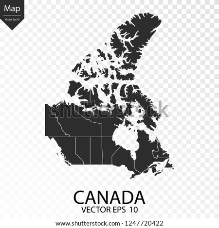 Map Of Canada Eps.Map Canada Vector Illustration Eps 10 Stock Vector Royalty Free