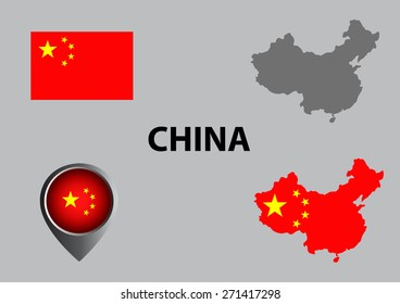 Map of China and symbol