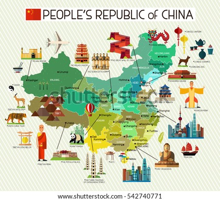 Map of China and