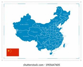 Map of China. Vector illustration.