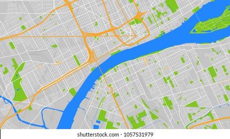 map city detroit