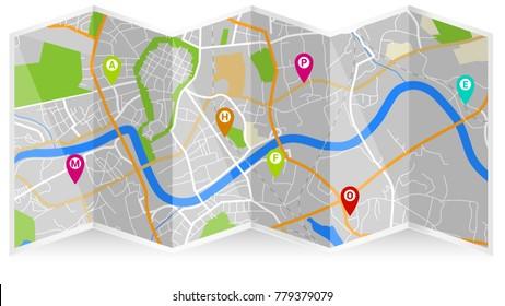 map city fold