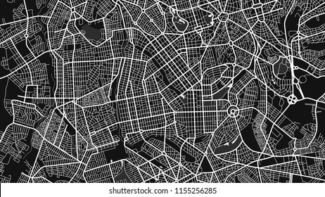 map city Goania black white