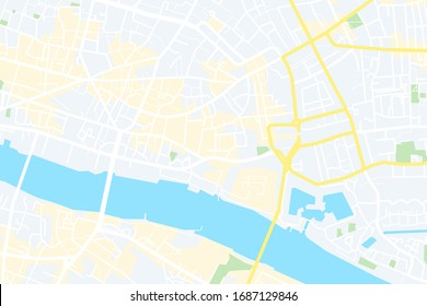 Map of the city. London,England. vector illustration.